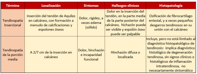 tendinopatías definición